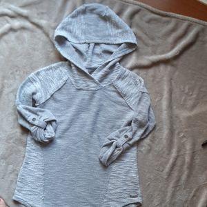Calvin Klein Performance  textured roll tab hoodie